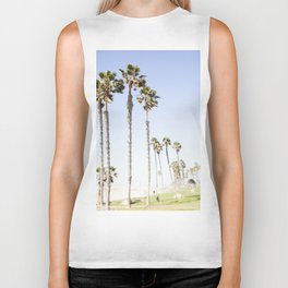 Palm Trees Swaying in the Breeze Biker Tank