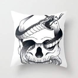 Invidia (Envy) - Seventh of the Seven Deadly Sins - White Throw Pillow
