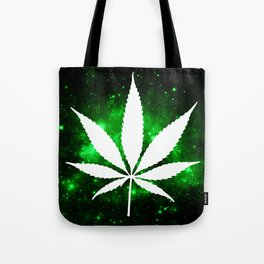 Weed : High Times Green Galaxy Tote Bag