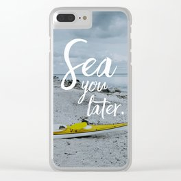 Sea you later. Clear iPhone Case