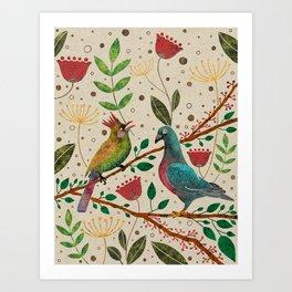 'Kaboobul' Folk Art Painting Art Print