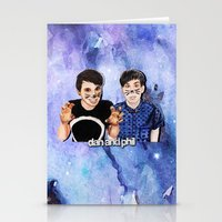 danisnotonfire Stationery Cards featuring DAN AND PHIL by Share_Shop