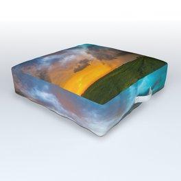 Glorious - Stormy Sky and Kansas Sunset Outdoor Floor Cushion