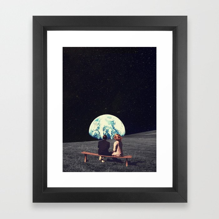 We Used To Live There Framed Art Print