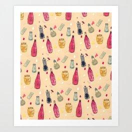 Condiment Café Art Print