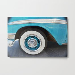 White Walls on Blue Metal Print