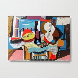 Pablo Picasso, Mandolin and Guitar (Mandoline et guitare) 1924 Artwork Metal Print