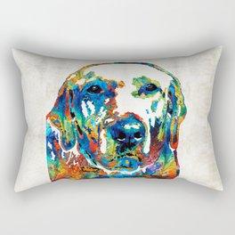 Labrador Retriever Art - Play With Me - By Sharon Cummings Rectangular Pillow