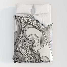 """GLOBULE"" Weird Psychedelic Art Duvet Cover"