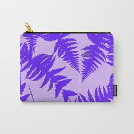 Decorative Grape Purple Ferns Glen on Lilac Color Carry-All Pouch