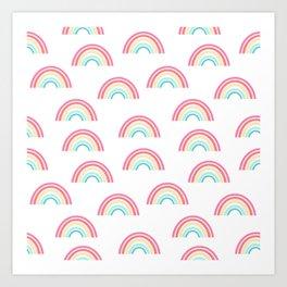 Rainbow pattern cute decor for kids room or nursery Art Print