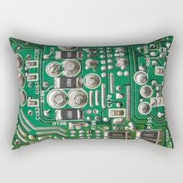 Circuit Board Macro Rectangular Pillow