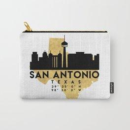 SAN ANTONIO TEXAS SILHOUETTE SKYLINE MAP ART Carry-All Pouch