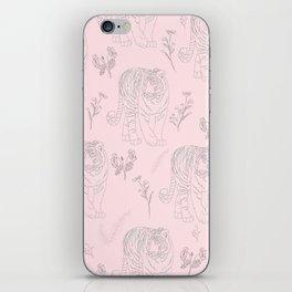 Wildflower Tiger iPhone Skin
