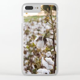 Cotton Field 3 Clear iPhone Case
