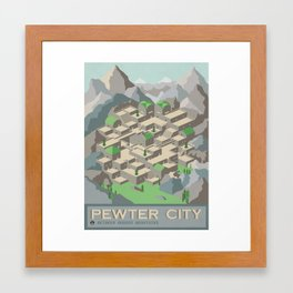 Pewter City Poster Framed Art Print