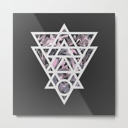 Marble and geometric design pattern Metal Print