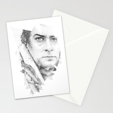bonobo dot work portrait Stationery Cards
