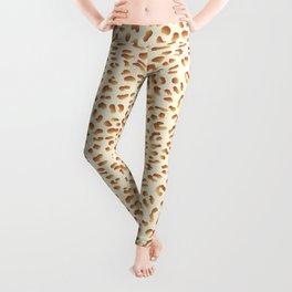 Golden Metallic Leopard Print Leggings
