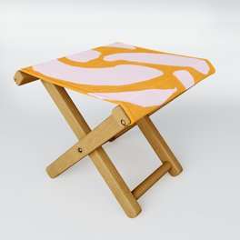 Abstract in Yellow and Cream Folding Stool