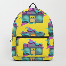 Retro Eighties Boom Box Graphic Backpack