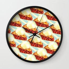 Cherry Pie Pattern Wall Clock