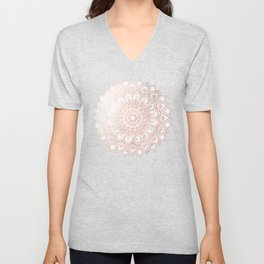 Pleasure Rose Gold Unisex V-Neck