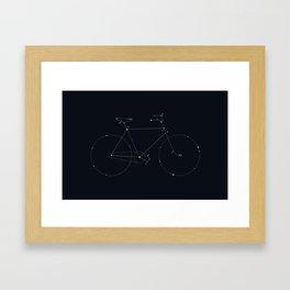 Bike Constellation Framed Art Print