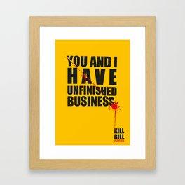 Kill Bill Minimal Poster 2.0 Framed Art Print