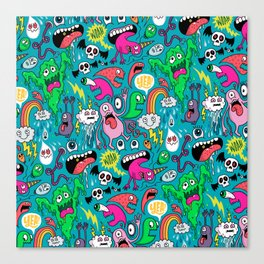 Monster Party Canvas Print