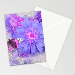 Daisy and Butterfly Stationery Cards