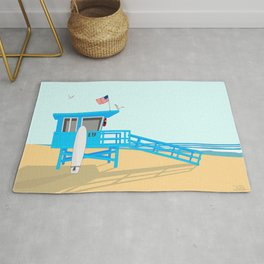 Lifeguard Tower Rug