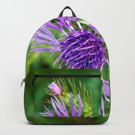 Purple Blossoms of a Thistle Backpack