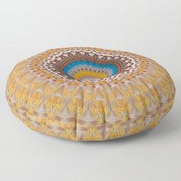 New Color Pyramidal Mandala 51 Floor Pillow