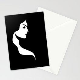Profile Female Portrait Stationery Cards