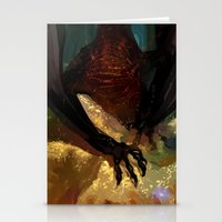 smaug Stationery Cards featuring princess smaug by Greyson J