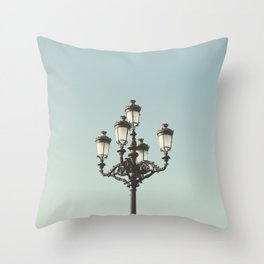 Lamppost Throw Pillow