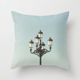 Lamppost Throw Pillow