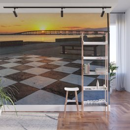 Checkerboard Sunset Wall Mural