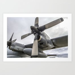NASAs C130 Hercules is a four-engine turboprop This particular plane was built in 1966 but has been Art Print