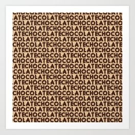 Chocolate Neck Gator Chocolate Art Print