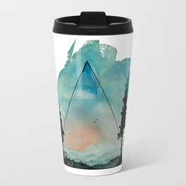 Watercolor Mountains Travel Mug