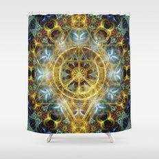 Sacred Geometry Fractal Mandala Shower Curtain