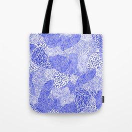 Blue sand Tote Bag