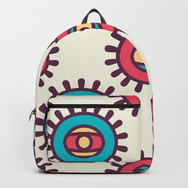 Eye In A Circle Boho Pattern Backpack