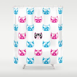 We are watching you. MEOW x 5 Shower Curtain