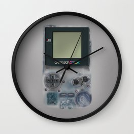 Classic retro transparent white grey game watch iPhone 4 5 6 7 8, tshirt, mugs and pillow case Wall Clock