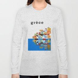 1961 Greece Travel Poster Long Sleeve T-shirt