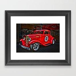 Red Hot Car- T Ford Framed Art Print
