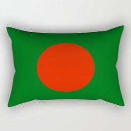 Bangladeshi Flag in green and red colors Rectangular Pillow